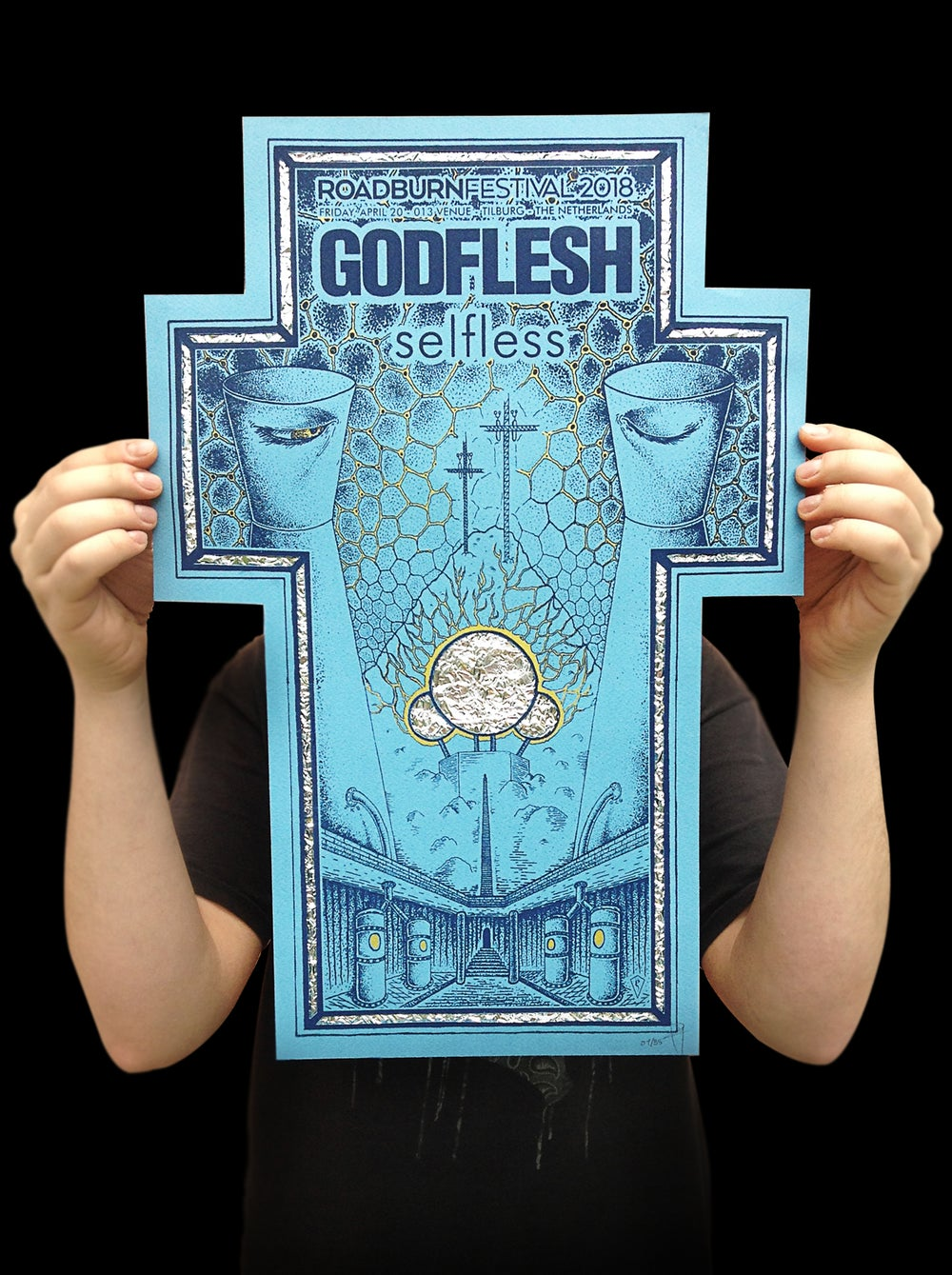 "Image of Godflesh ""Selfless"" Gig poster"