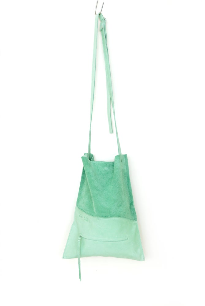 Image of Mint Green Leather Cross Body Bag