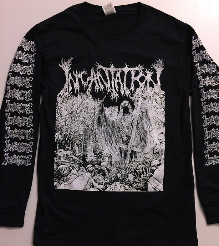 """Image of Incantation """" Rotting """" Long Sleeve T shirt"""