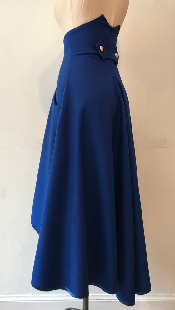 Image of High waisted waterfall skirt