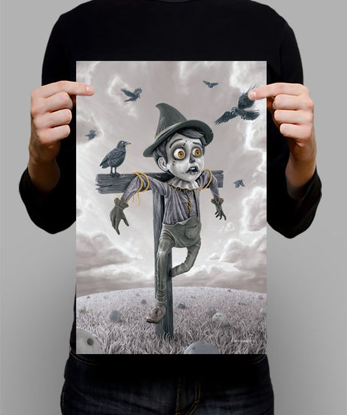 "Image of SIGNED Poster - The Scarecrow MONO - 11"" X 17"""