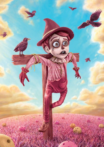 "Image of Rare PINK ""Shanghai Toy Show"" Scarecrow Print - Signed"