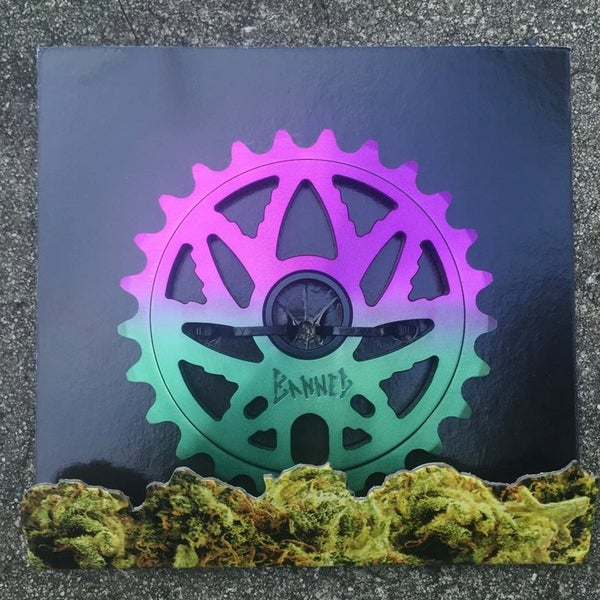 Image of Budsaw sprocket R.B.G.D color way (purple/green fade)