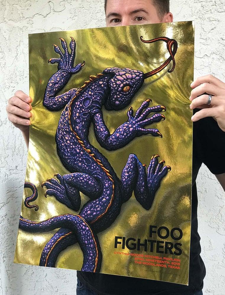 Image of Foo Fighters Gig Poster: Woodlands
