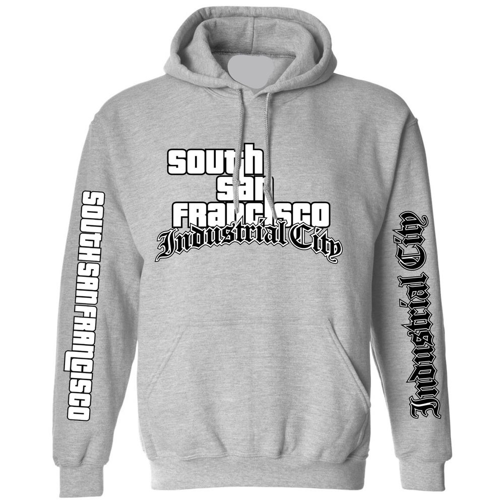Image of Industrial City GTA Hoodie (Grey/Black)