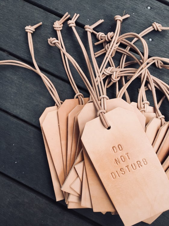 Image of Do Not Disturb Leather Tag