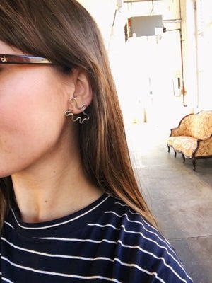 Image of Abstract Shape Silver Studs
