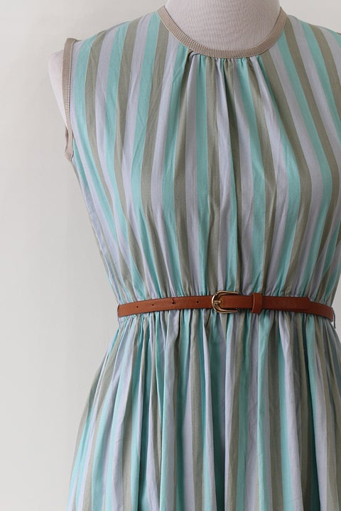 Image of SOLD Stripes For Days Cotton Day Dress