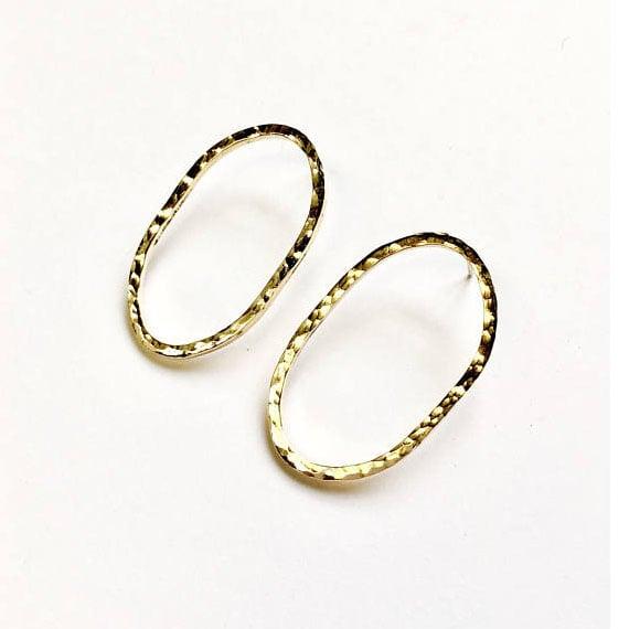 Image of Hammered Brass Ovals