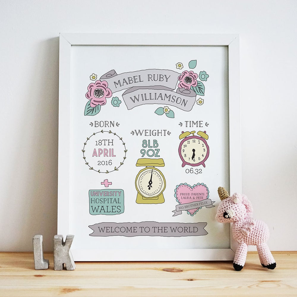 Image of Personalised Welcome to the World - Girl