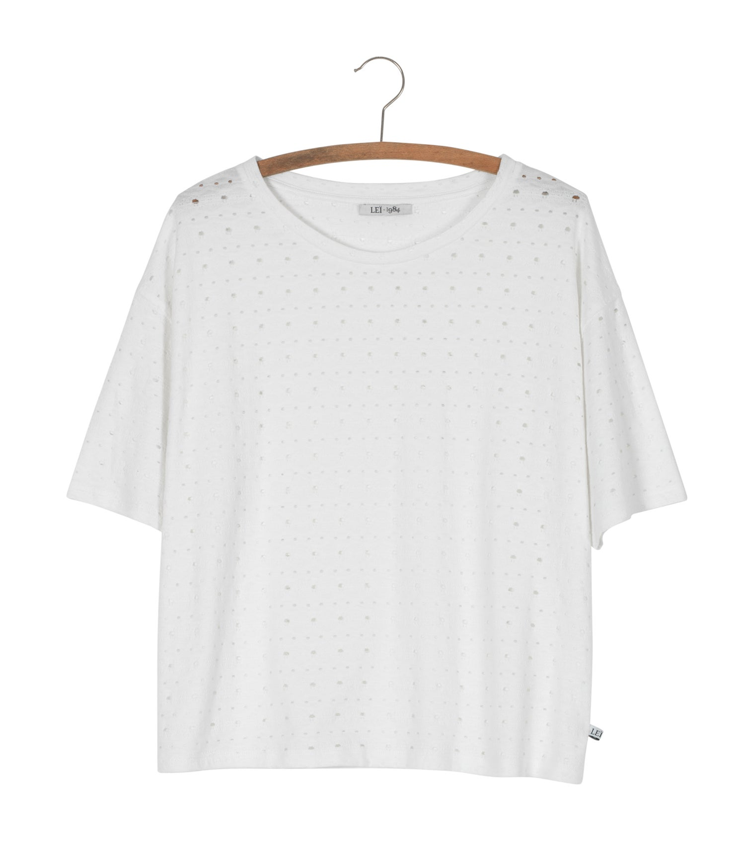 Image of Tee shirt jacquard ajouré ANTO MC 55€ -60%