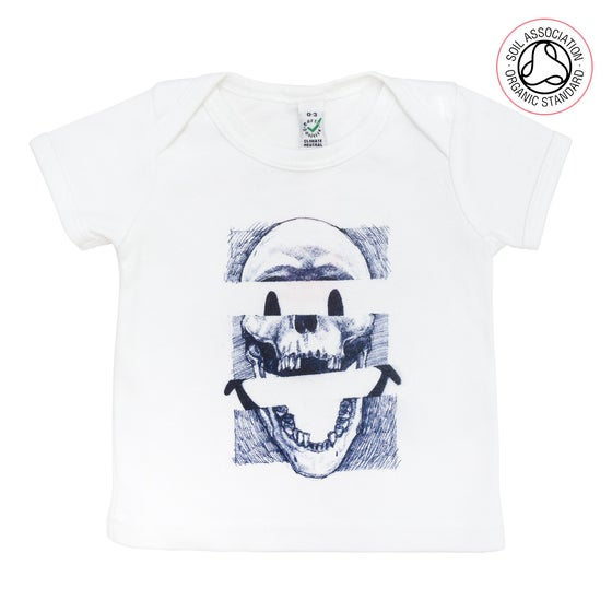 Image of Smiley Skull Infants White T-shirt