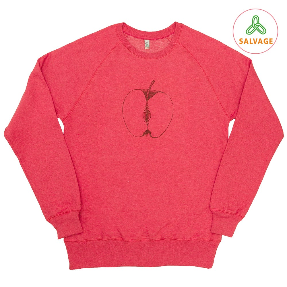 Image of VajApple Unisex Red Sweatshirt (Recycled)