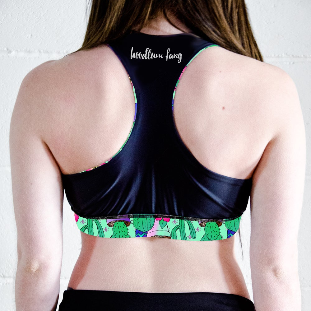 Image of Cactus Racer Back Sports Crop Top