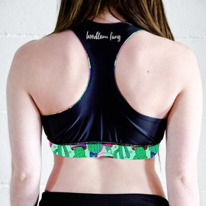 Image of Cactus Reversible Sports Crop Top