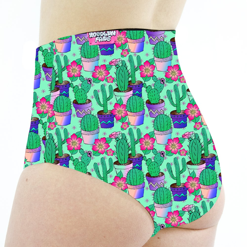Image of Cactus High Waisted Cheeky Shorts