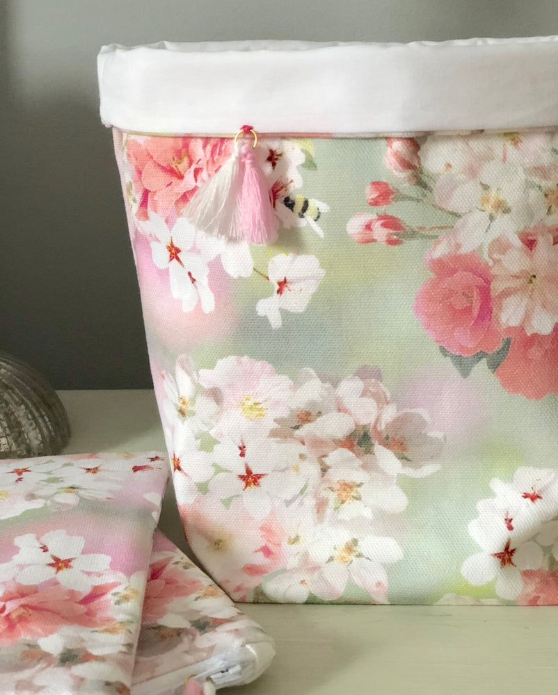 Image of Blossom Bee Fabric Basket