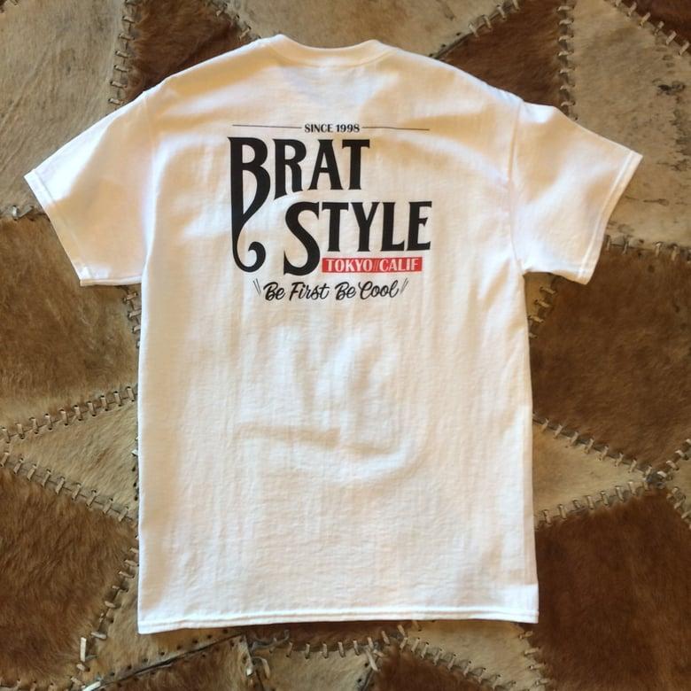 Image of BRAT STYLE T-SHIRT with pocket WHITE
