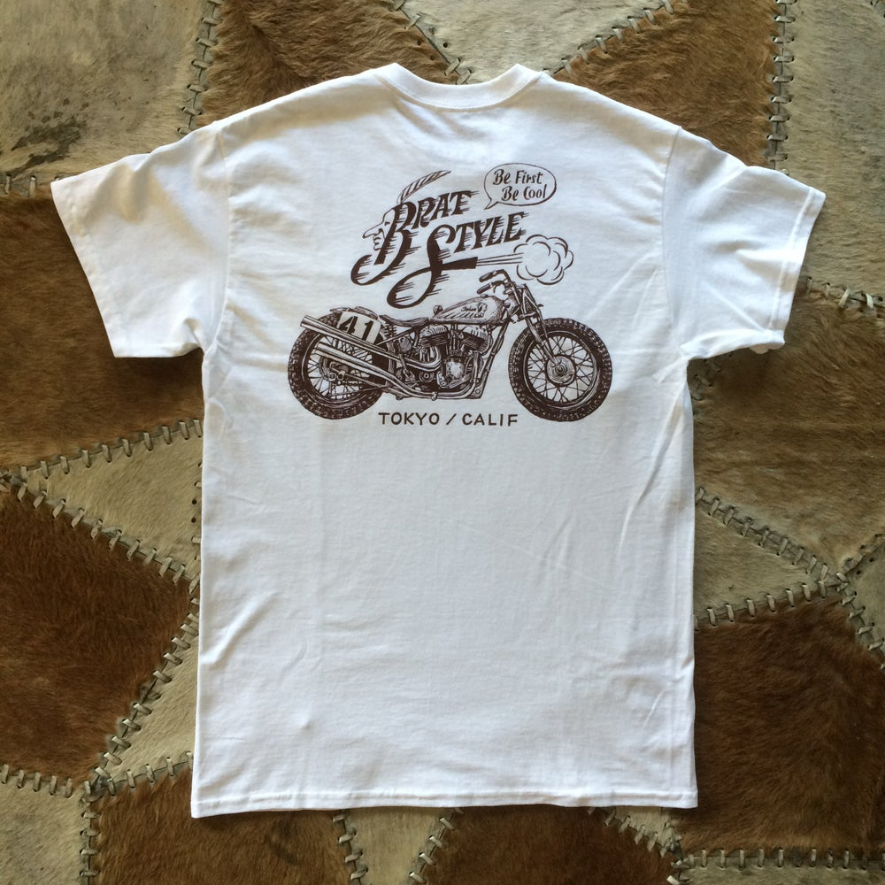 Image of INDIAN T-SHIRT with pocket WHITE