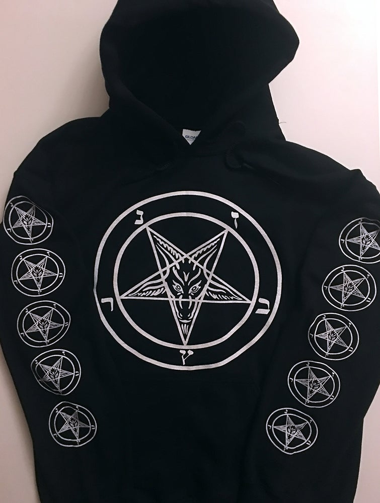 Image of Pentagram Hoodie with Sleeve Prints