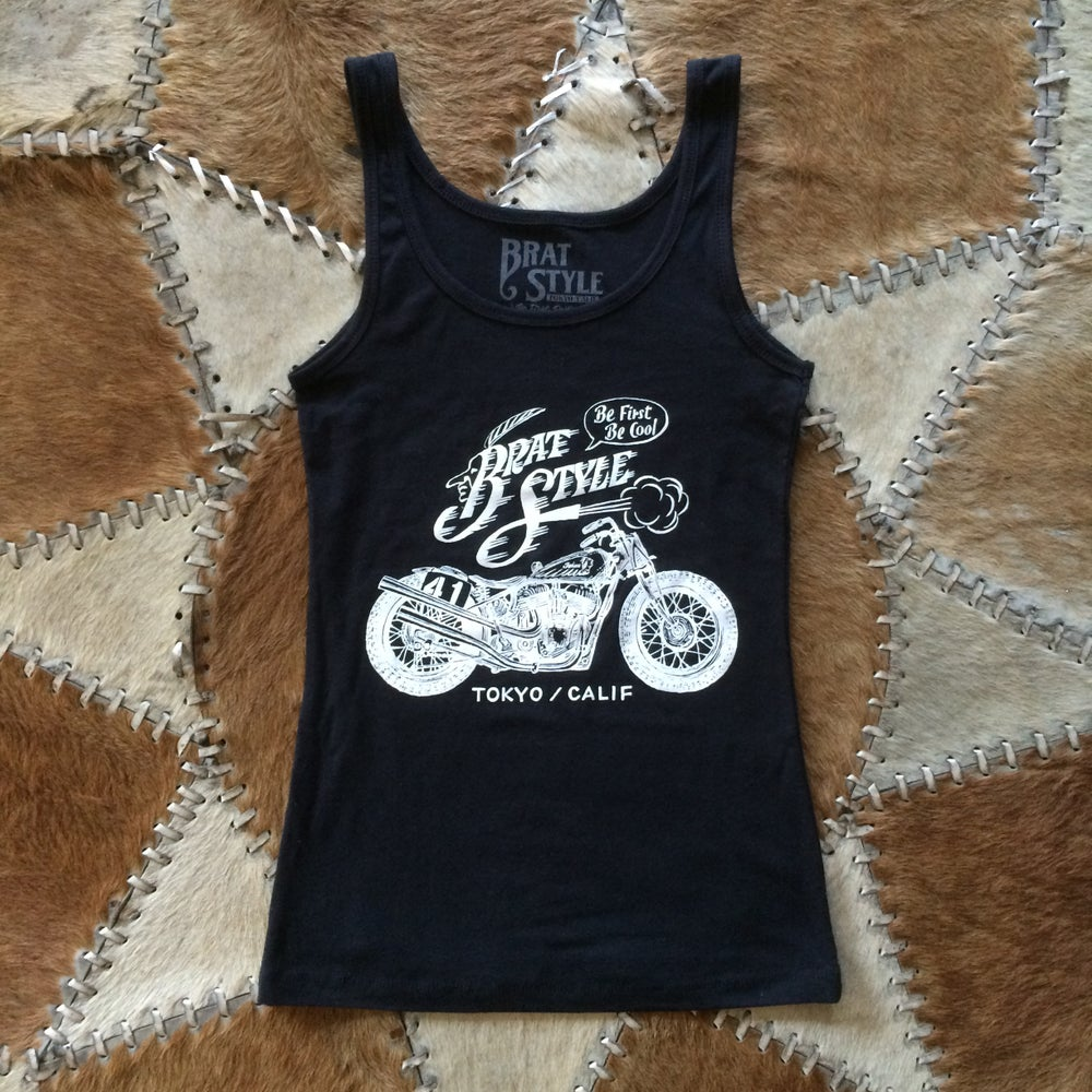 Image of INDIAN WOMEN'S TANK TOP BLACK