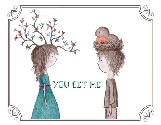 "Image of greeting cards ~ ""you..."""