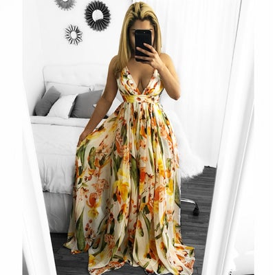 Image of Floral maxi