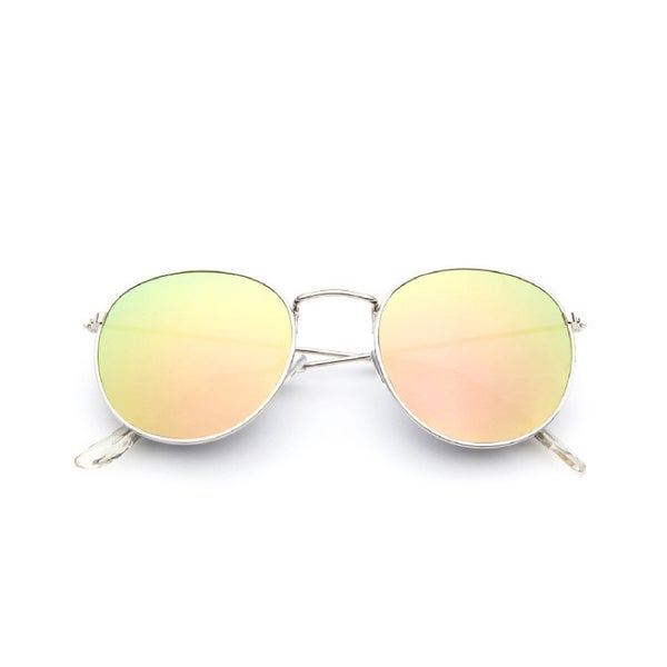 Image of Mirrored round sunglasses