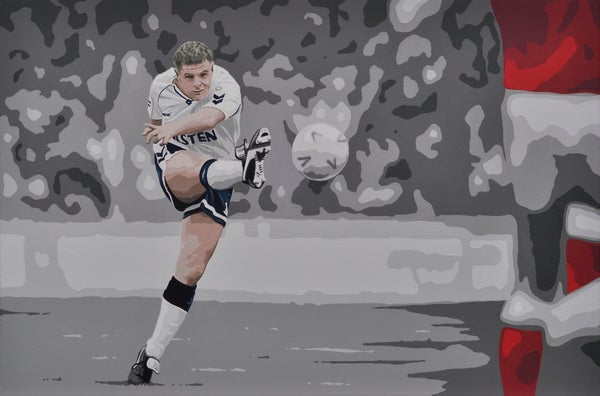 Image of GAZZA VS ARSENAL - Fine art print A3, A2, A1