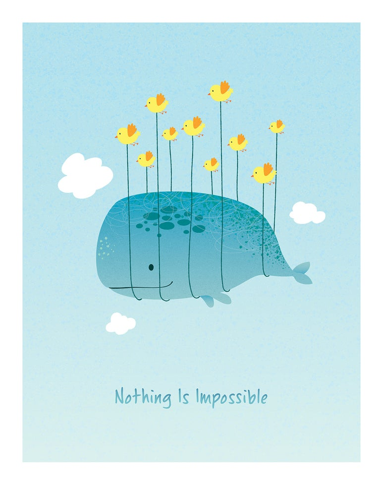 Image of Nothing Is Impossible - Blue