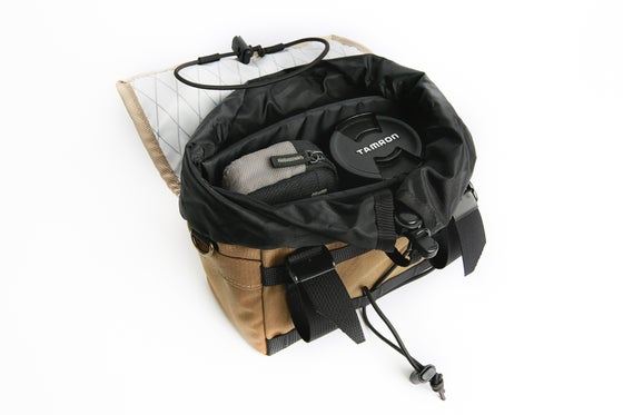 Image of Outer Shell Padded Insert for Drawcord Handlebar Bag