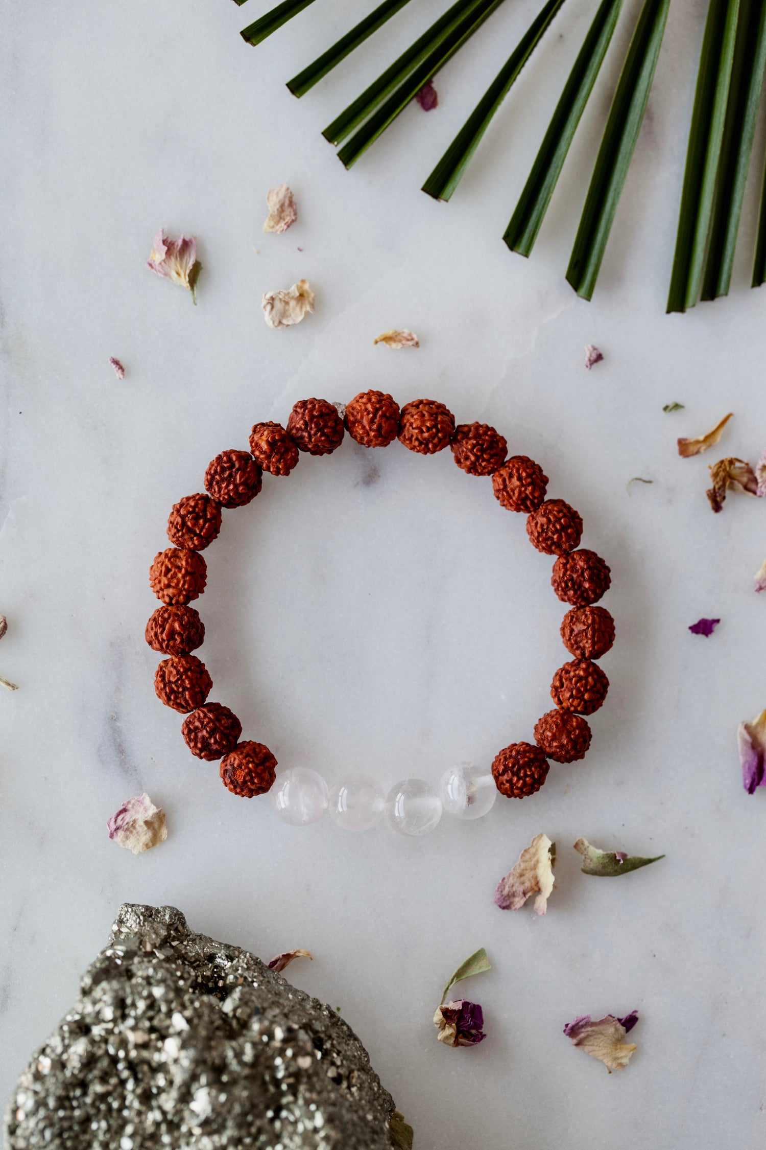 Image of Rose Quartz Wrist Mala