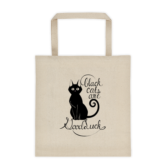 Image of BLACK CATS ARE GOOD LUCK - TOTE