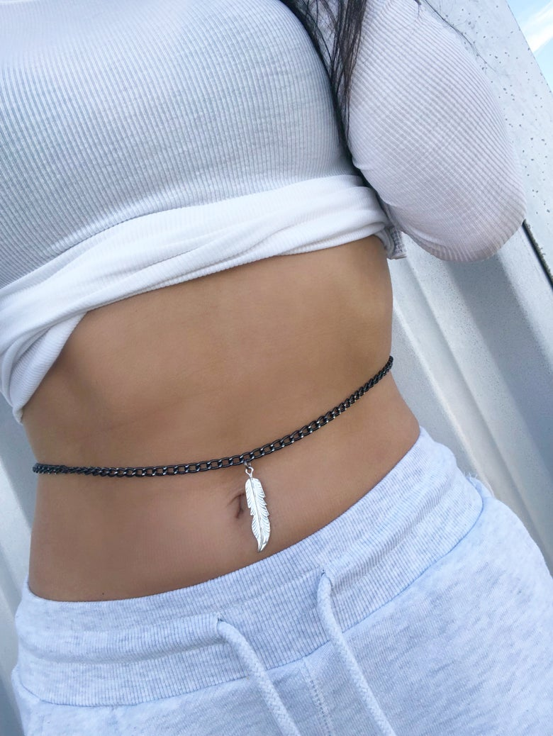 Image of Silver Belly Chain