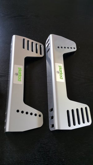 Image of Planted Aluminum Offset & 90 degree Universal Side Mount - Grey