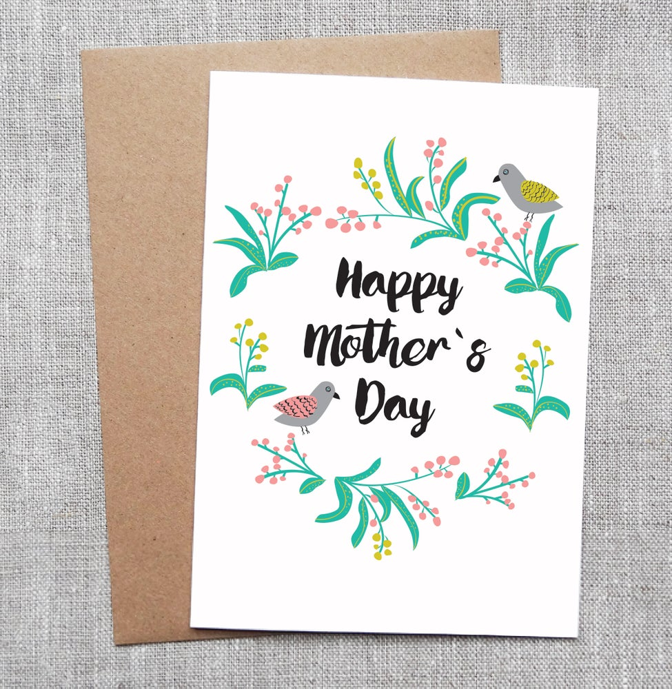 Sneaky Fox Graphics Illustrated Greeting Card Happy Mothers Day