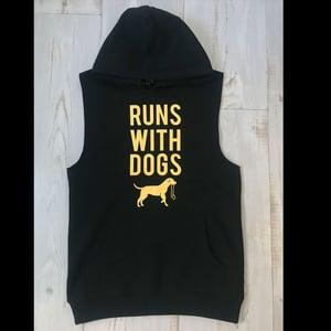 Image of Runs With Unisex Sleeveless Hood