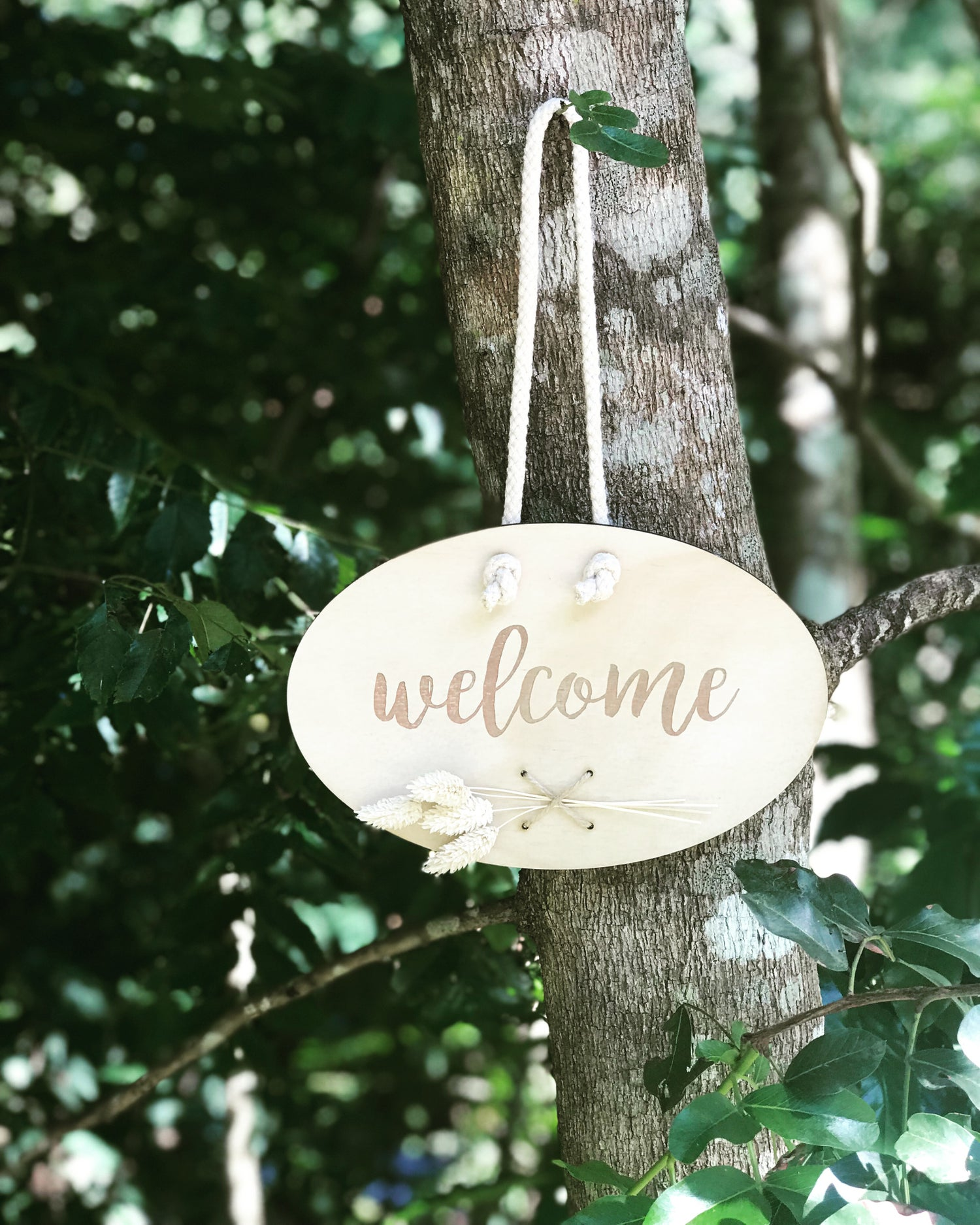 Image of WELCOME or PERSONALISED WILDFLOWER PLAQUE
