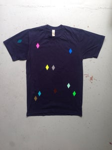 Image of Shirt navy diamond adults/ Round neck
