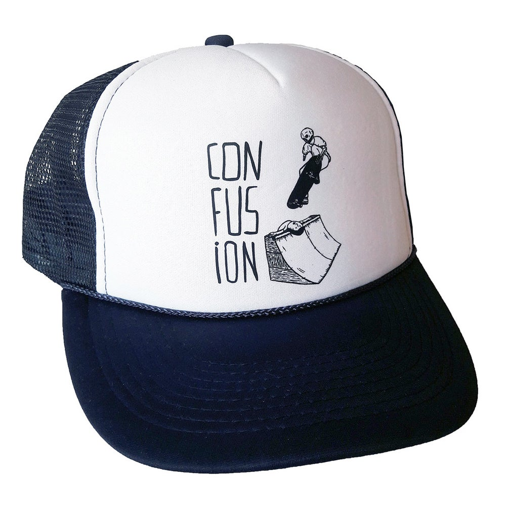 Image of Confusion - Sacrifice - mesh cap (white/blue)