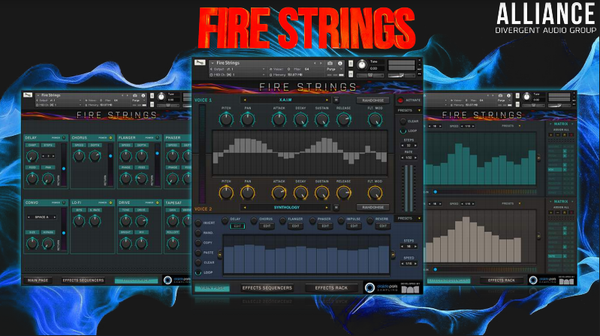 "Image of FIre Strings ""Hybrid String Instrument"" for Kontakt"