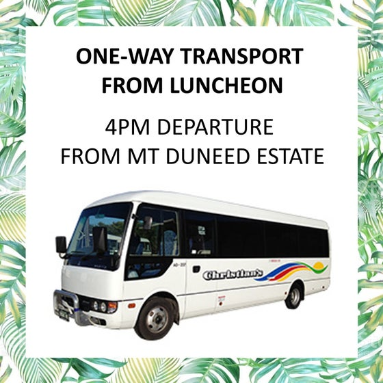 Image of Bus Transfer (One Way) after Mother's Day Luncheon - 4:15pm departure from Mt Duneed Estate
