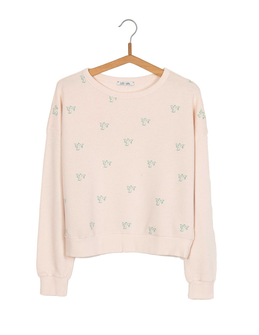 Image of Sweat court broderies colombes AUGUSTIN BIS 95€ -60%