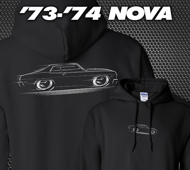 Image of '73-'74 Nova T-Shirts Hoodies Banners