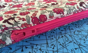 Image of Pink floral zipped case