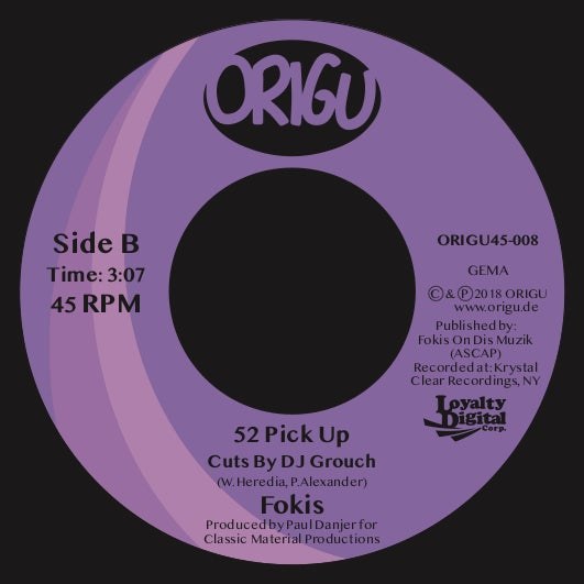 """Image of OUT NOW 7"""" FOKIS - AUDIO CRACK FEATURING SKYZOO & CHI-ALI B/W 52 PICK UP (ORIGU45-008)"""