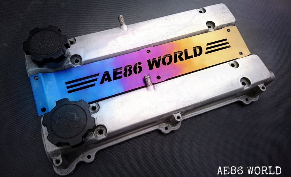 Image of AE86 WORLD 4AGE Titanium Plug Cover
