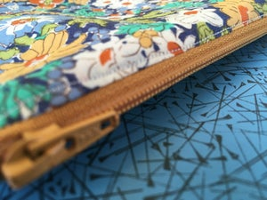 Image of Blues and golds zipped case