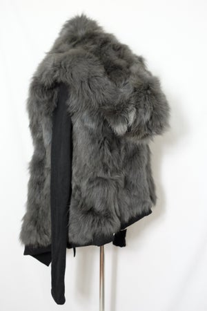 Image of PRE-OWEND CLOTHING - Reversible Fox Fur Hoodie