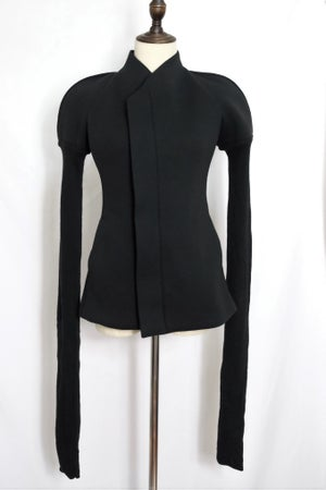 Image of PRE-OWNED CLOTHING - Padded Shoulder Zip Jacket